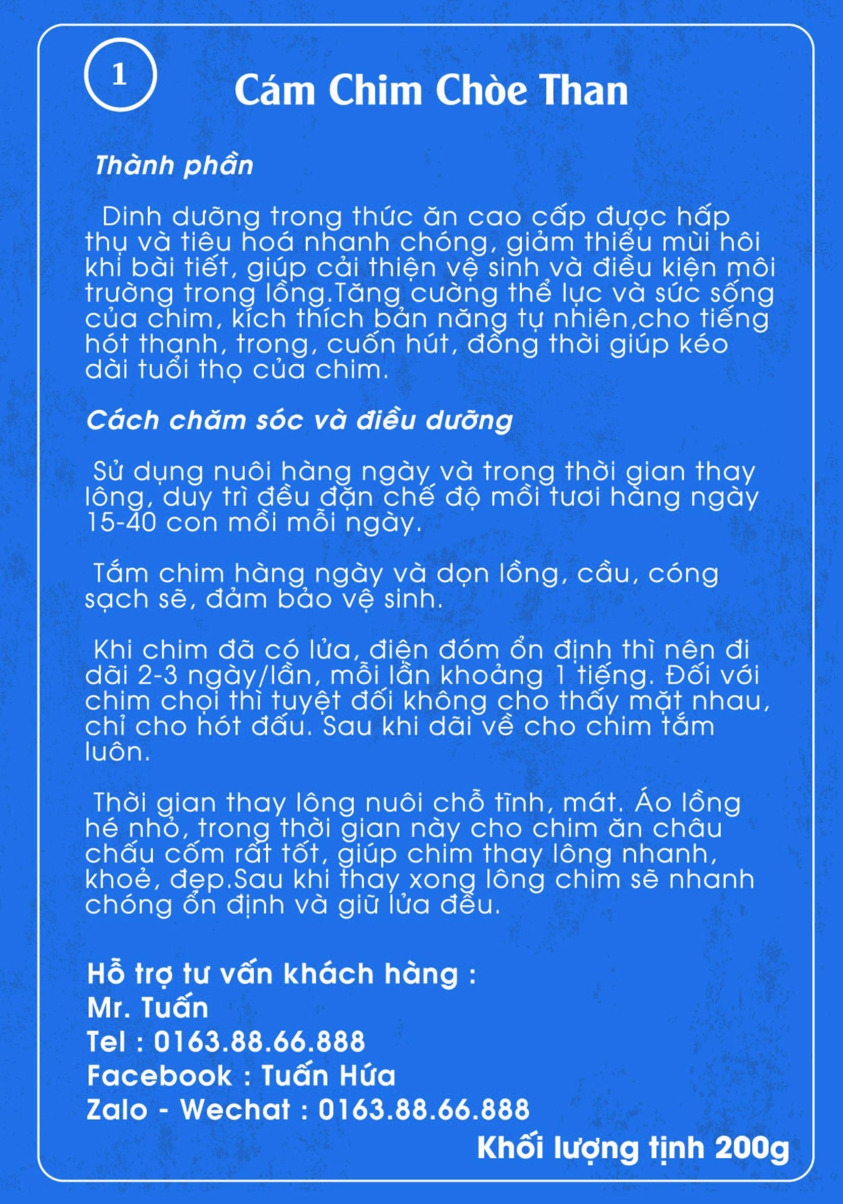 CHIM CHÒE THAN 1 MẶT SAU 01